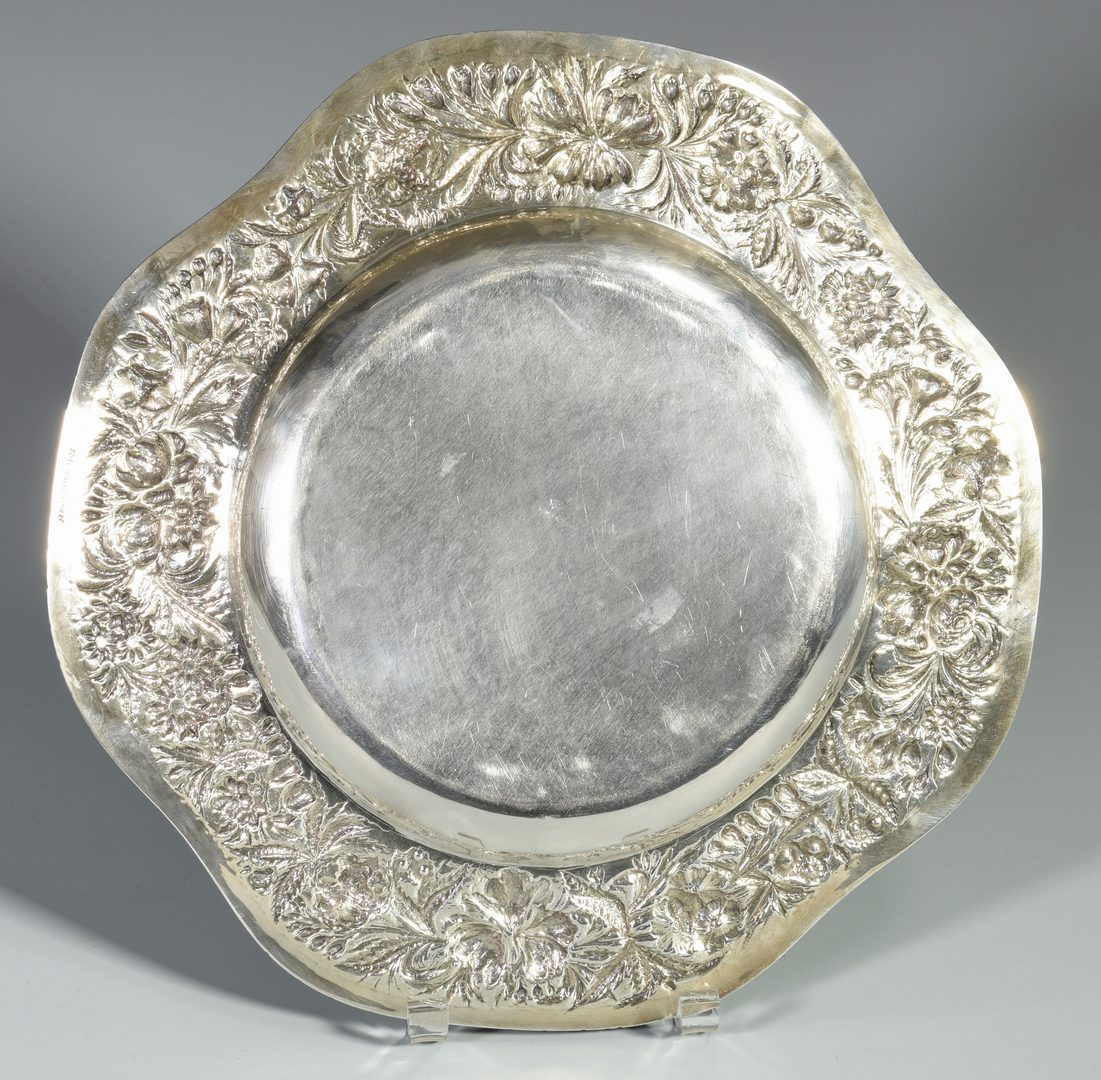 Lot 841: S. Kirk & Son Sterling Repousse Low Bowl