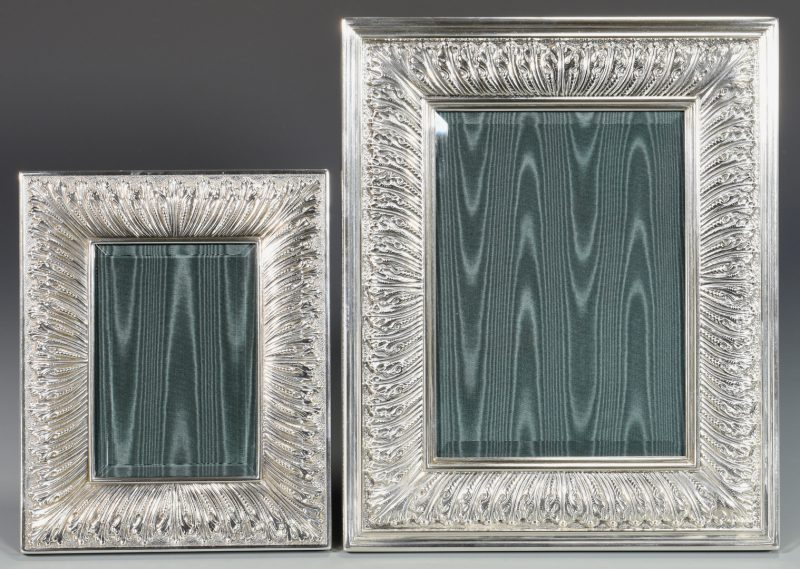Lot 842: 2 Buccellati Sterling Frames