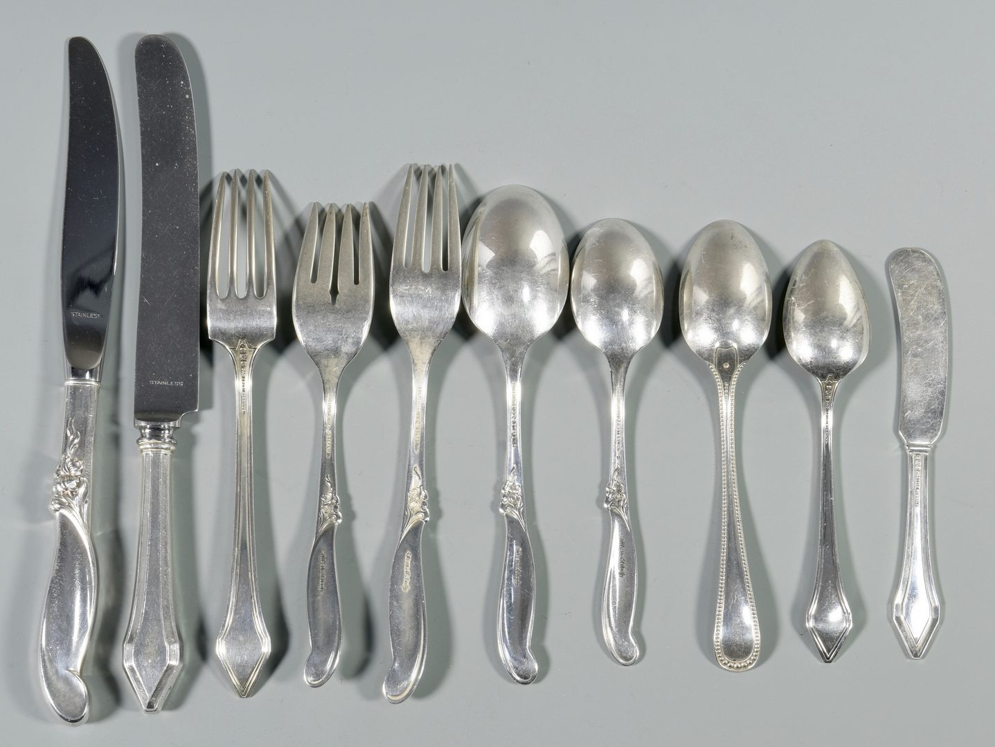 Lot 844: Sterling Flatware, Melody and Clermont patterns