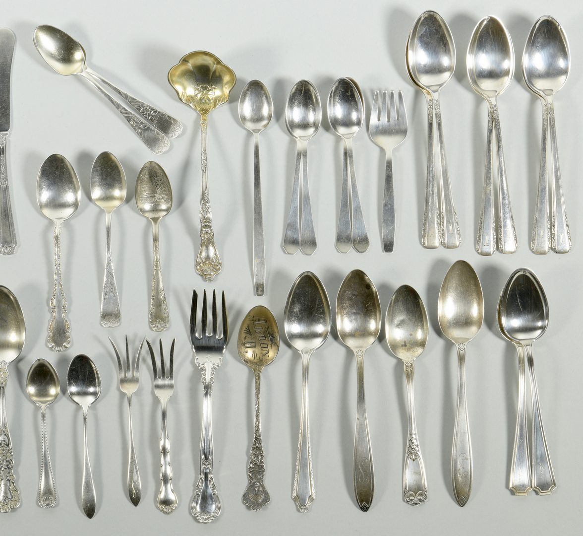 Lot 846: Assorted Sterling Silver Flatware, 52 pcs.