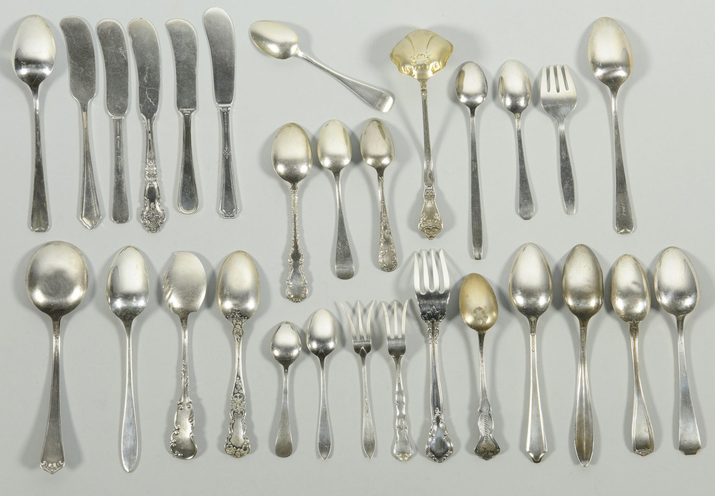 Lot 846: Assorted Sterling Silver Flatware, 52 pcs.