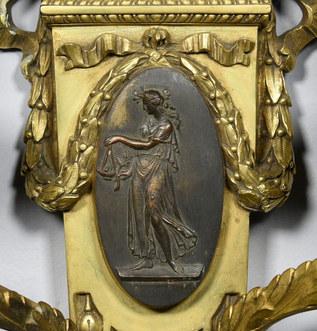 Lot 84: Pr. Parcel Gilt Bronze Sconces