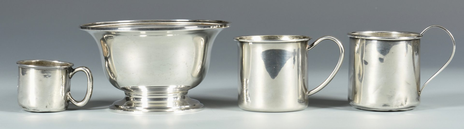 Lot 850: 11 pcs Sterling Silver Table Holloware