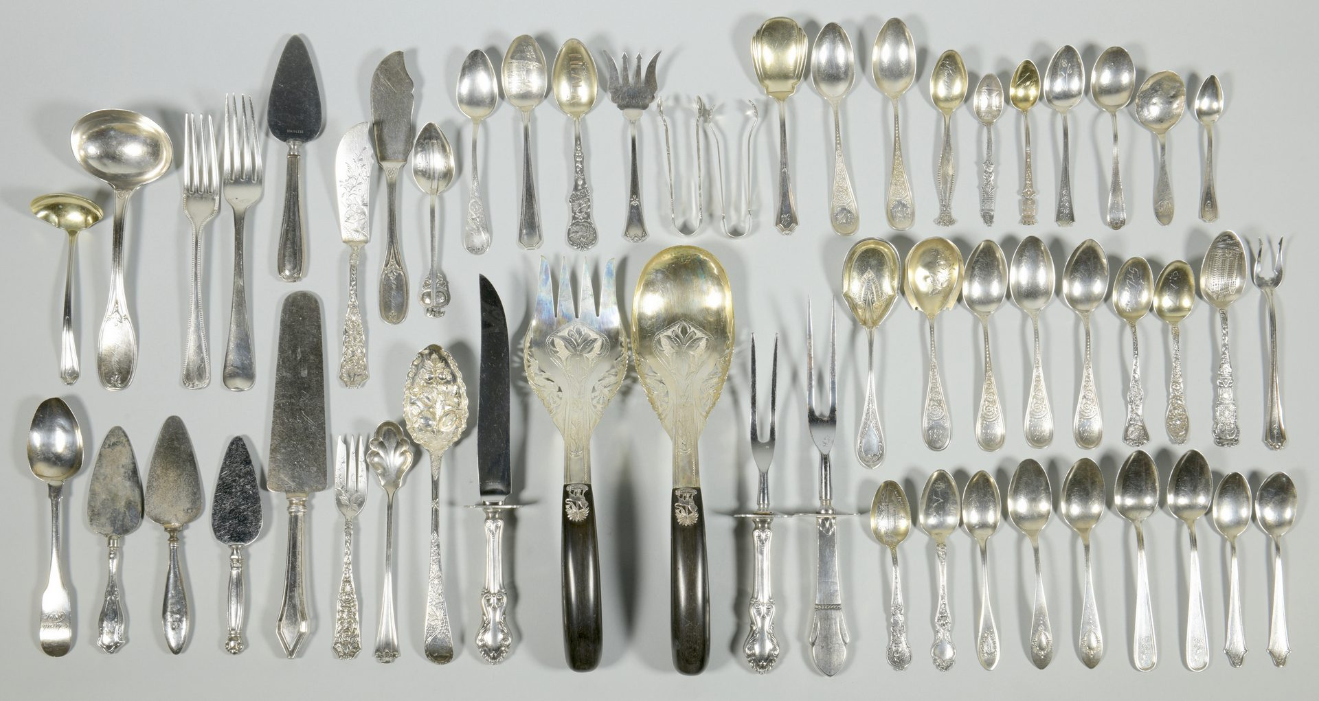 Lot 853: Assd. Silver Flatware, Devon Farm