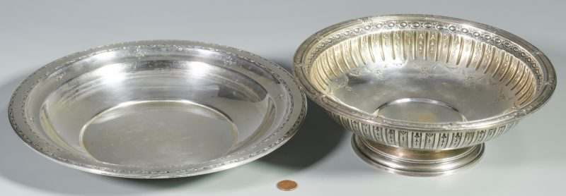 Lot 854: 2 Sterling Silver Bowls, Gorham and Towle