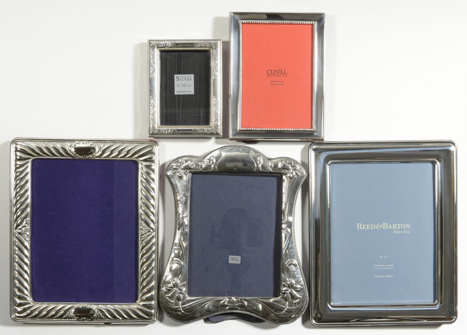 Lot 856: 5 Sterling Frames, including Reed Barton, Cunill