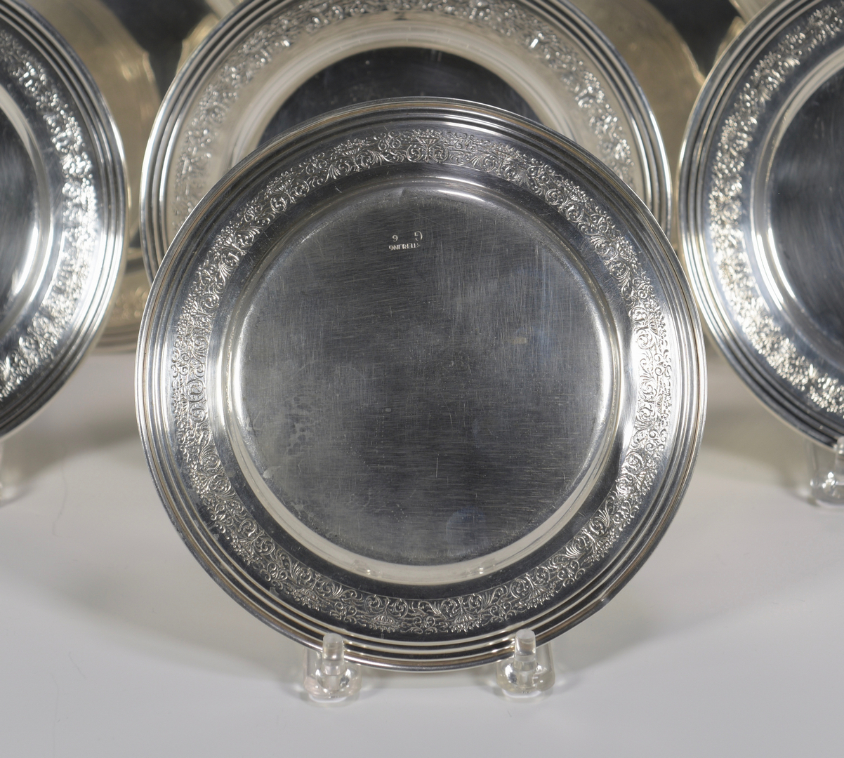 Lot 857 Group Of Sterling Plates Etc 23 Items