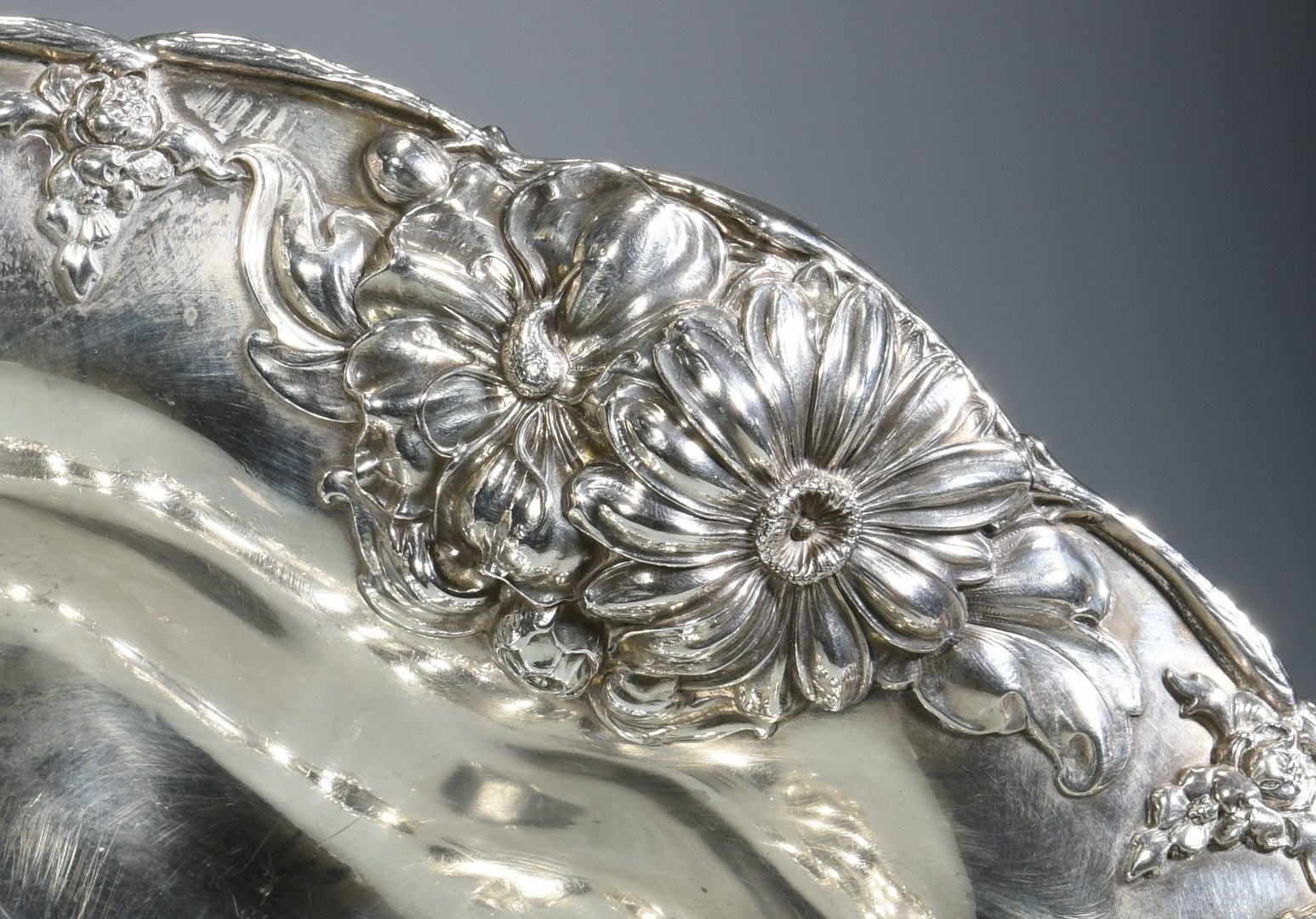 Lot 858: Gorham Sterling Repousse Center Piece