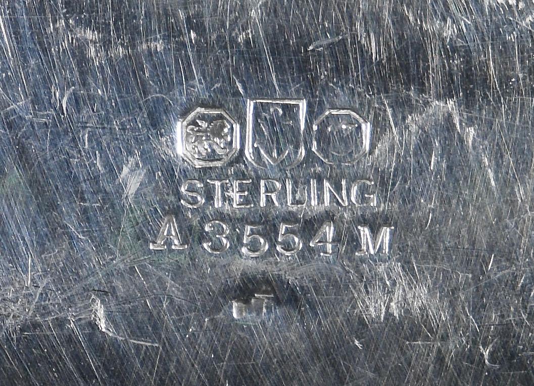 Lot 858: Gorham Sterling Repousse Center Piece