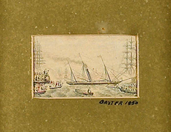 Lot 85: Set of 4  Baxter Miniature Watercolors