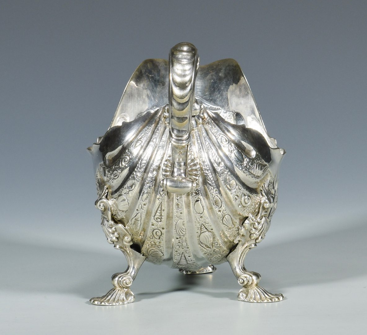 Lot 860: Rococo Style Sterling Sauceboat