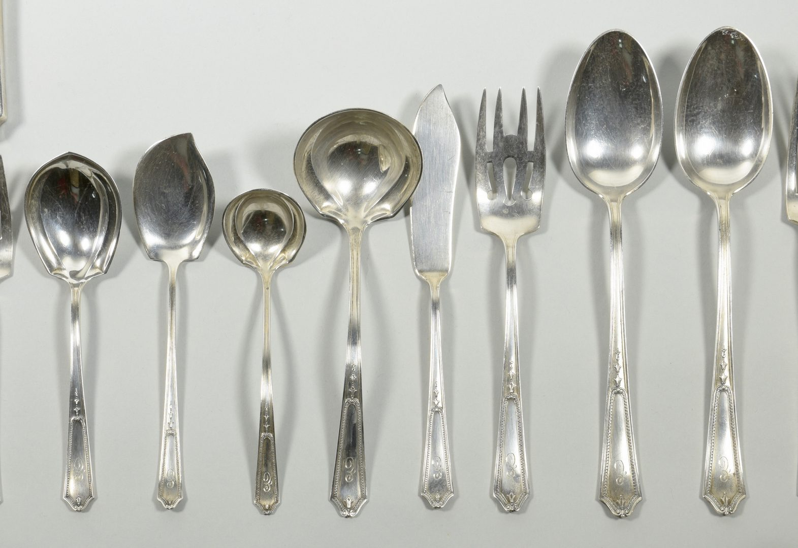 Lot 862: International Sterling Flatware, Georgian Maid, 36 total