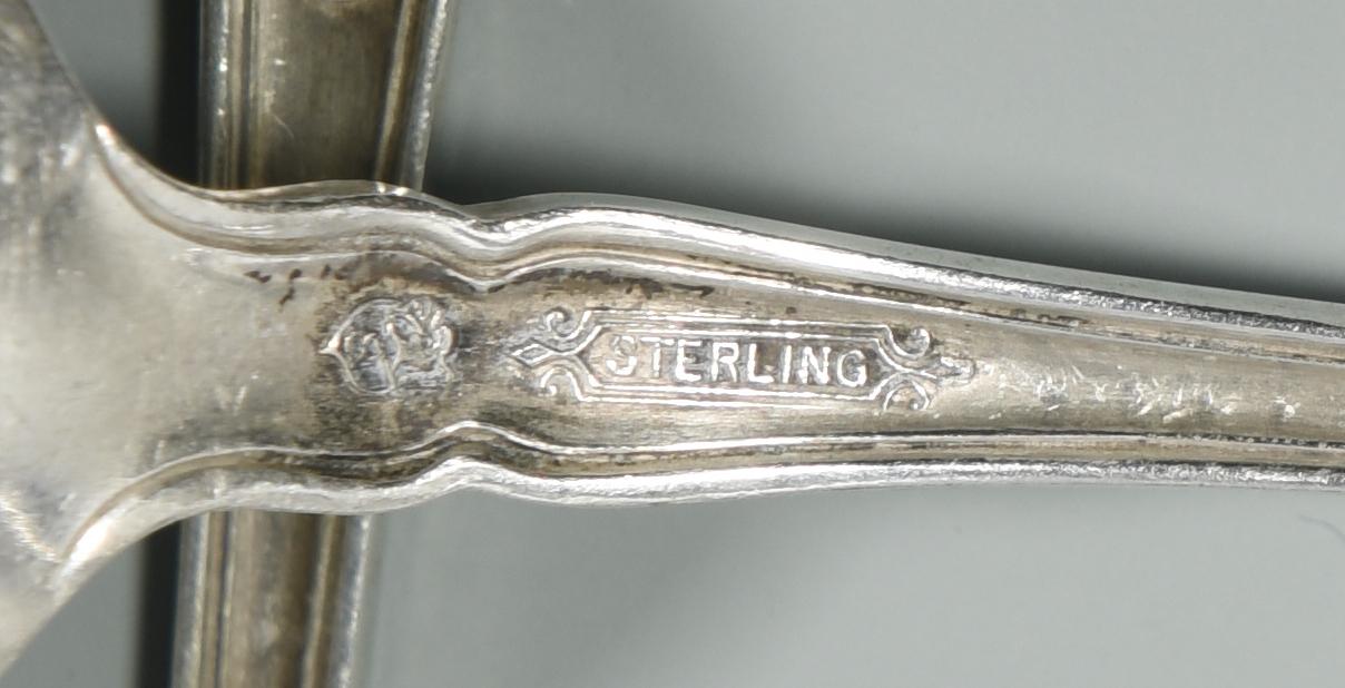 Lot 863: International Edgewood Sterling Flatware, 18 pcs