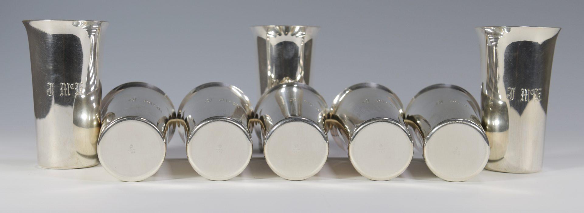 Lot 865: Assembled Set 8 Sterling Silver Beakers