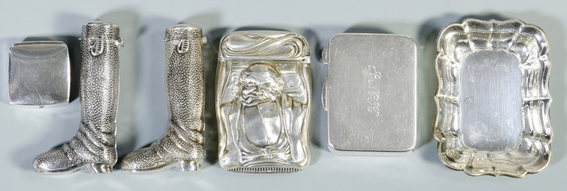 Lot 866: Group Sterling  Silver Trinkets, 15 items
