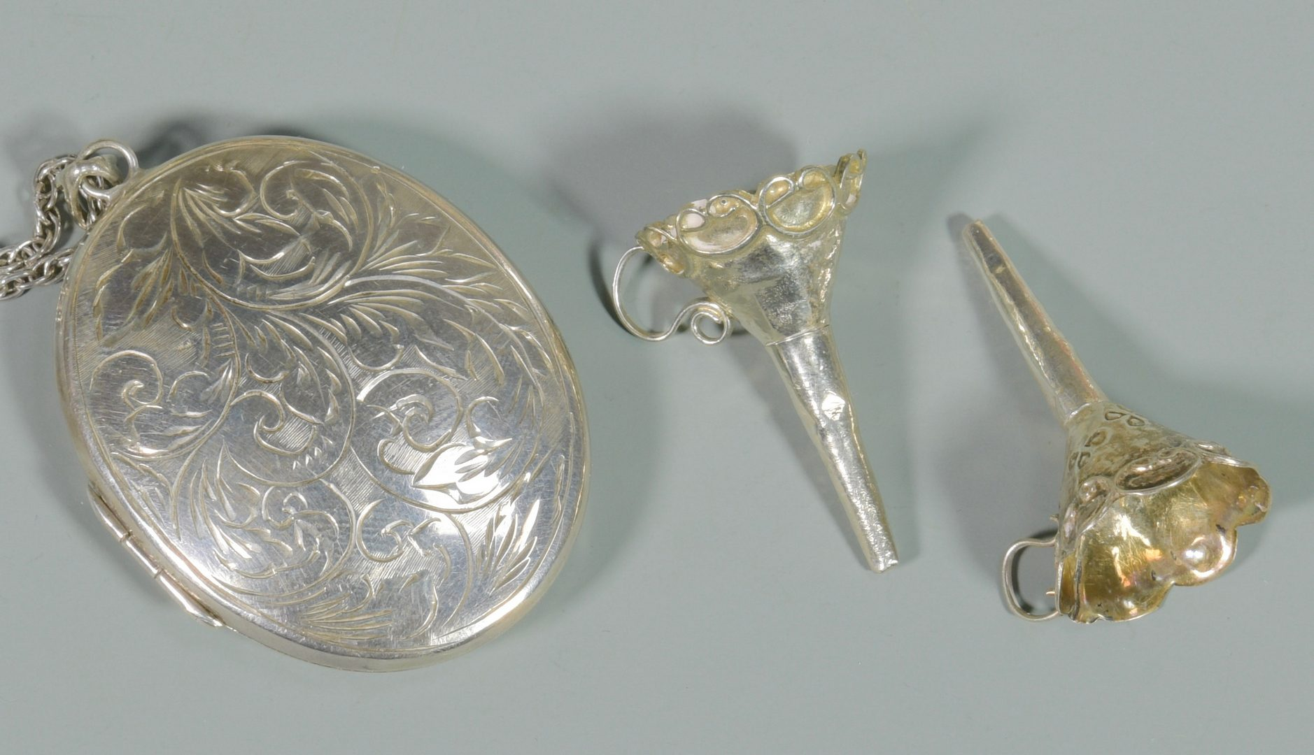 Lot 867: 47 pcs Assorted Silver, incl. Demitasse Cups