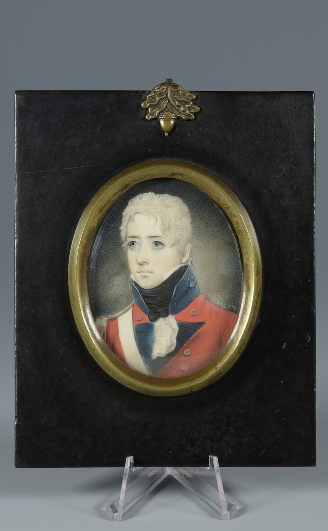 Lot 86: M. Finucane, miniature officer portrait