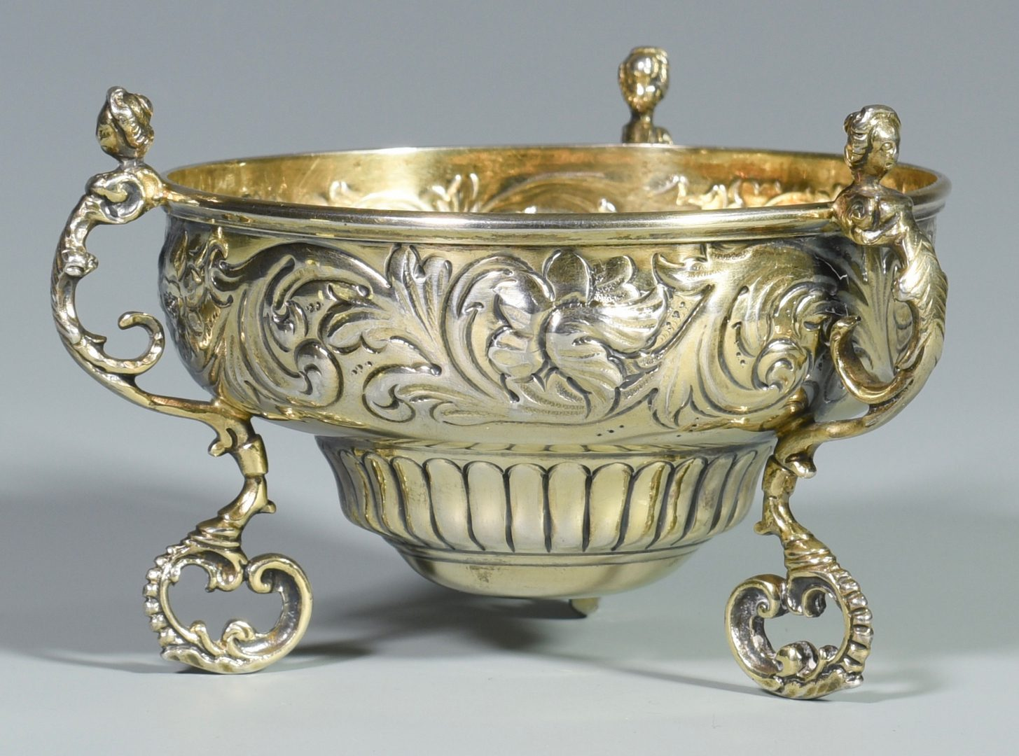 Lot 870: English Sterling Repousse Loving  Cup