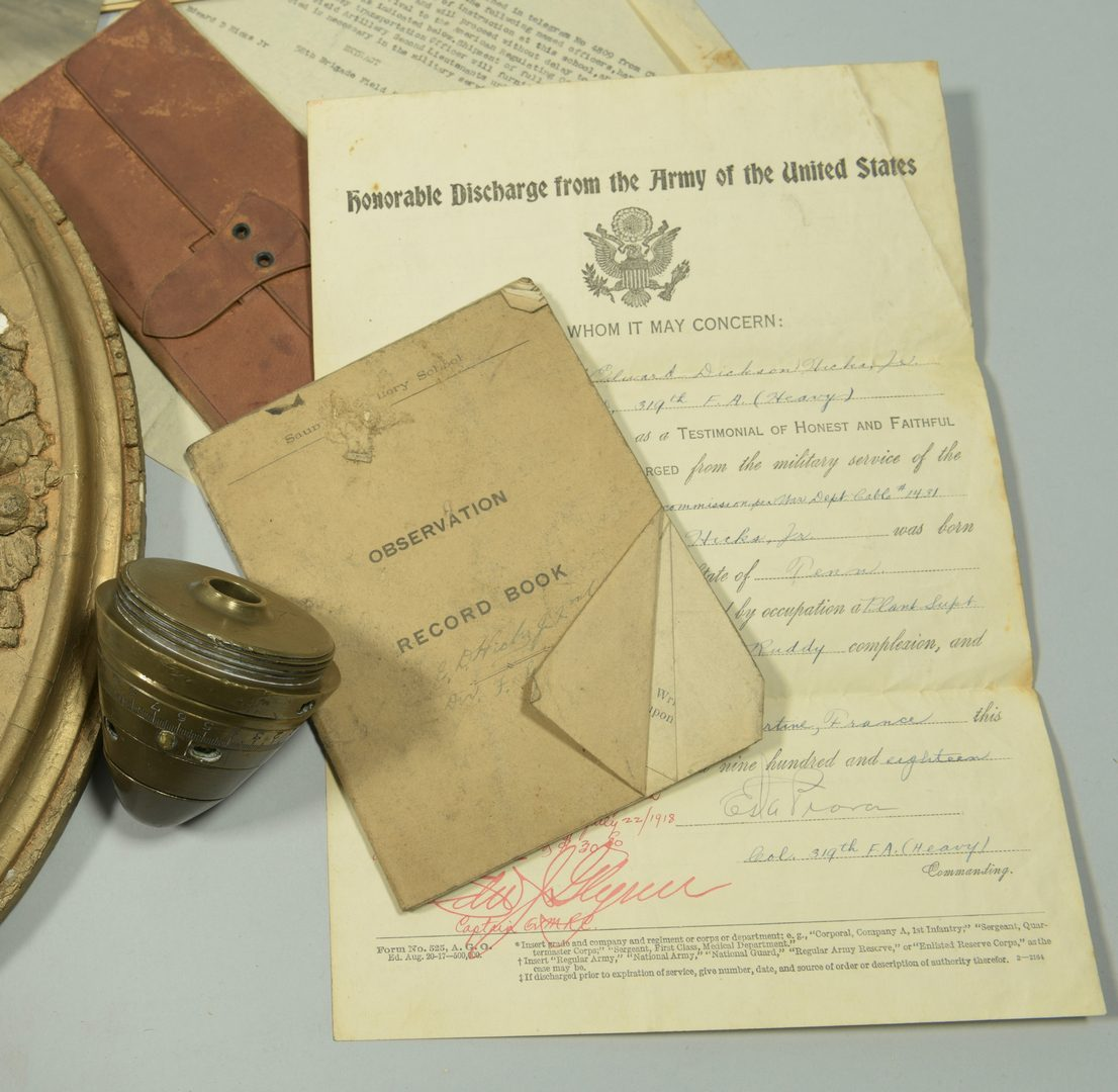 Lot 873: World War I Archive – E.D. Hicks