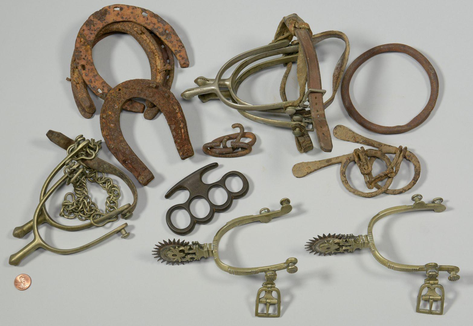 Lot 875: Horse Spurs & Shoes, incl Spanish, c. 1840
