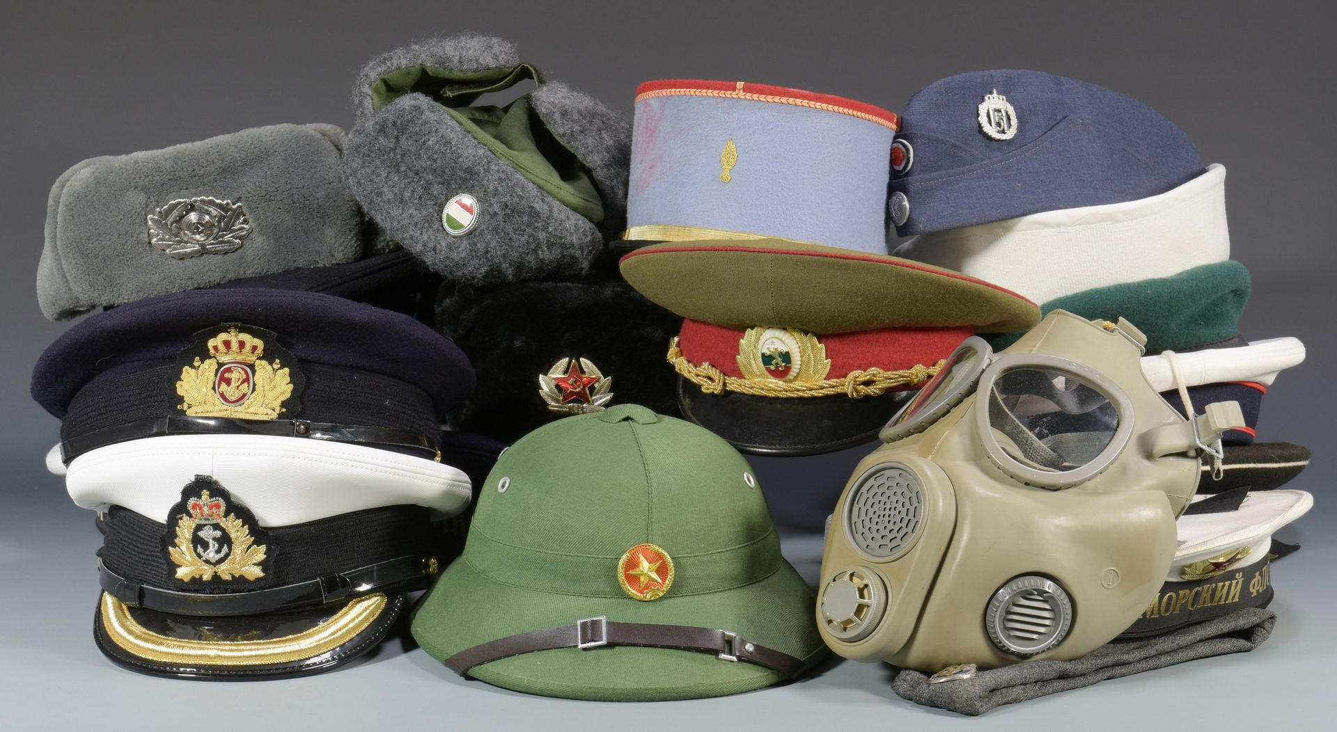 Lot 879: Armed Forces Cap Collection