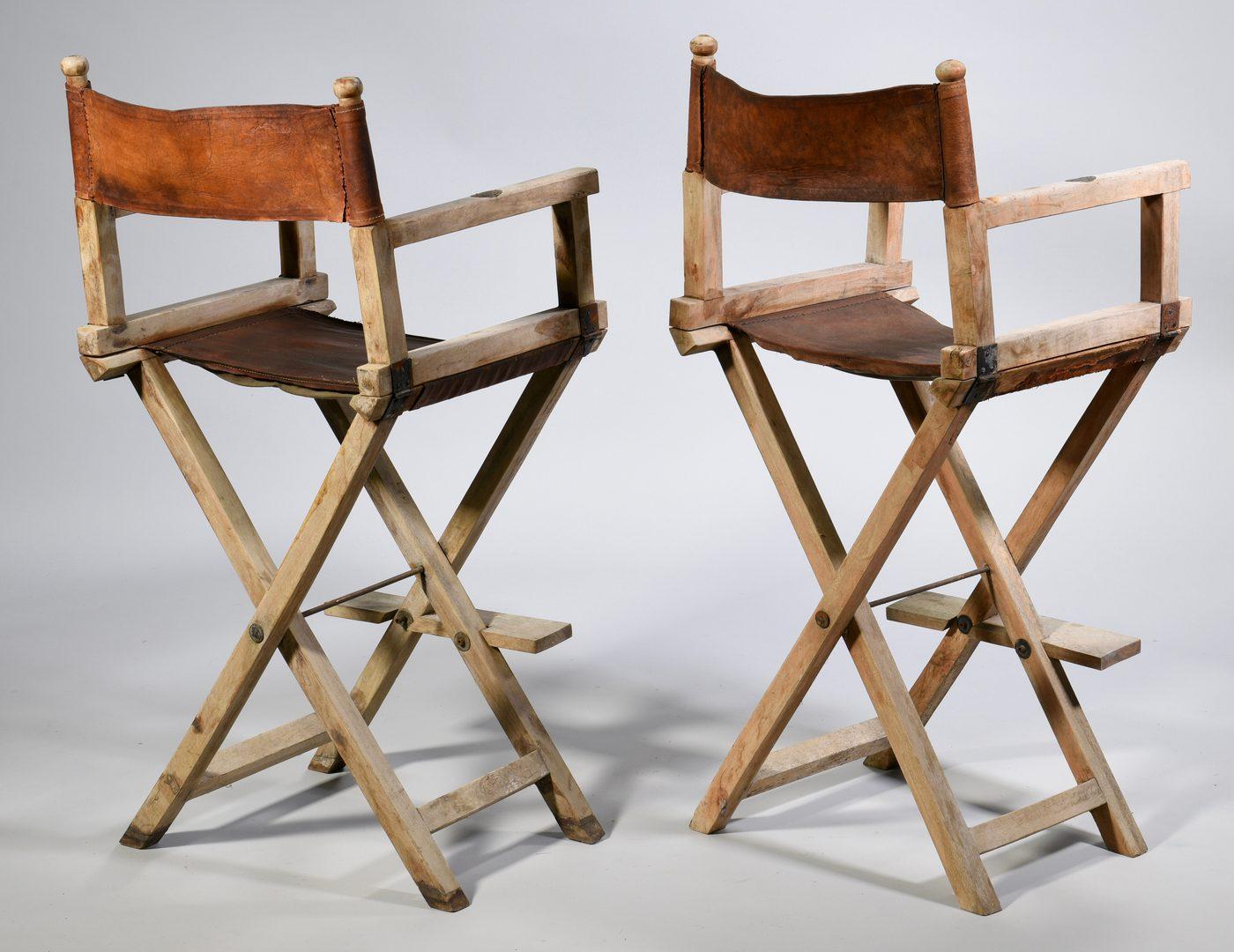 Lot 883: Set 4 Vintage Col. Corbett Safari Chairs