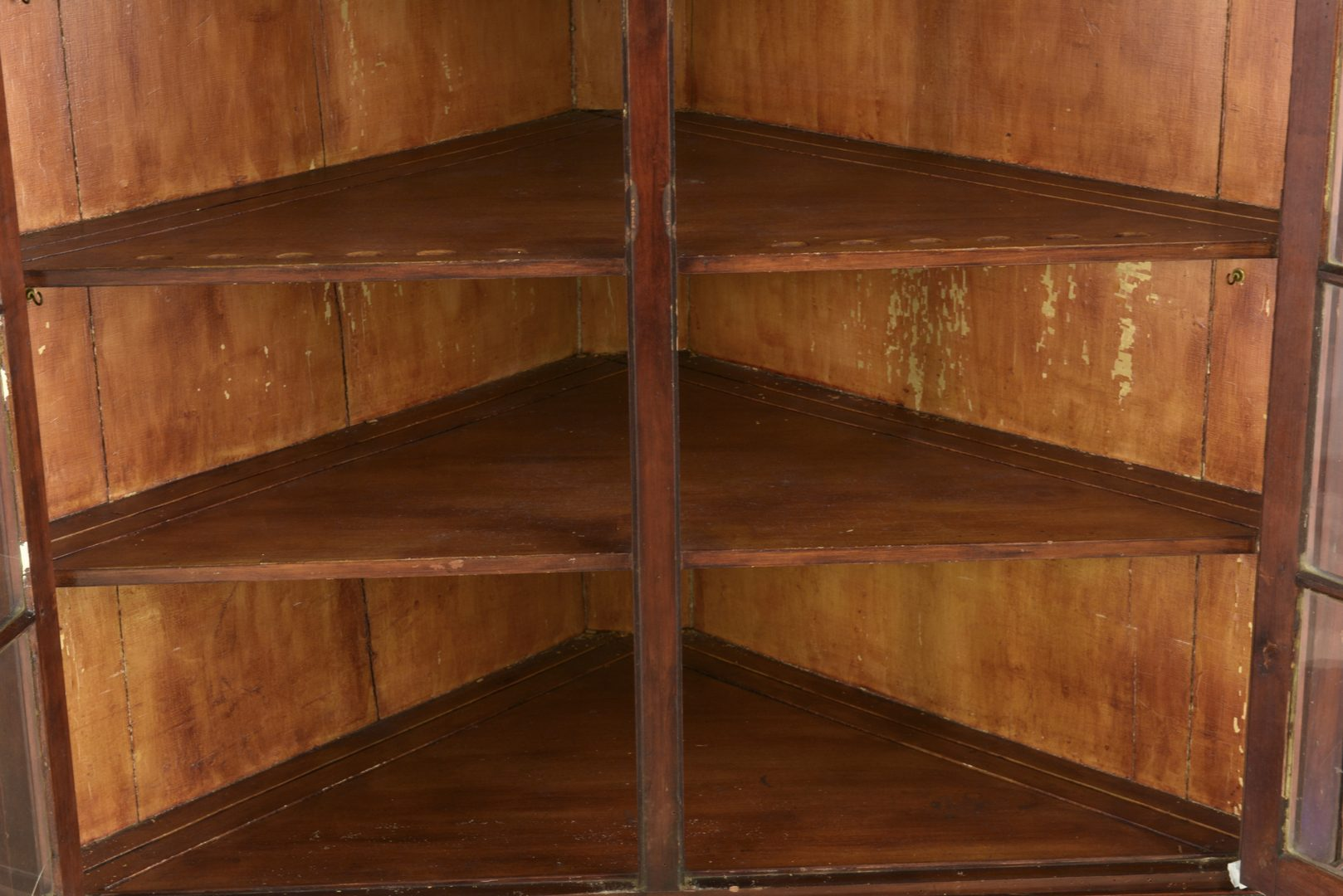 Lot 891: American Cherry Corner Cupboard