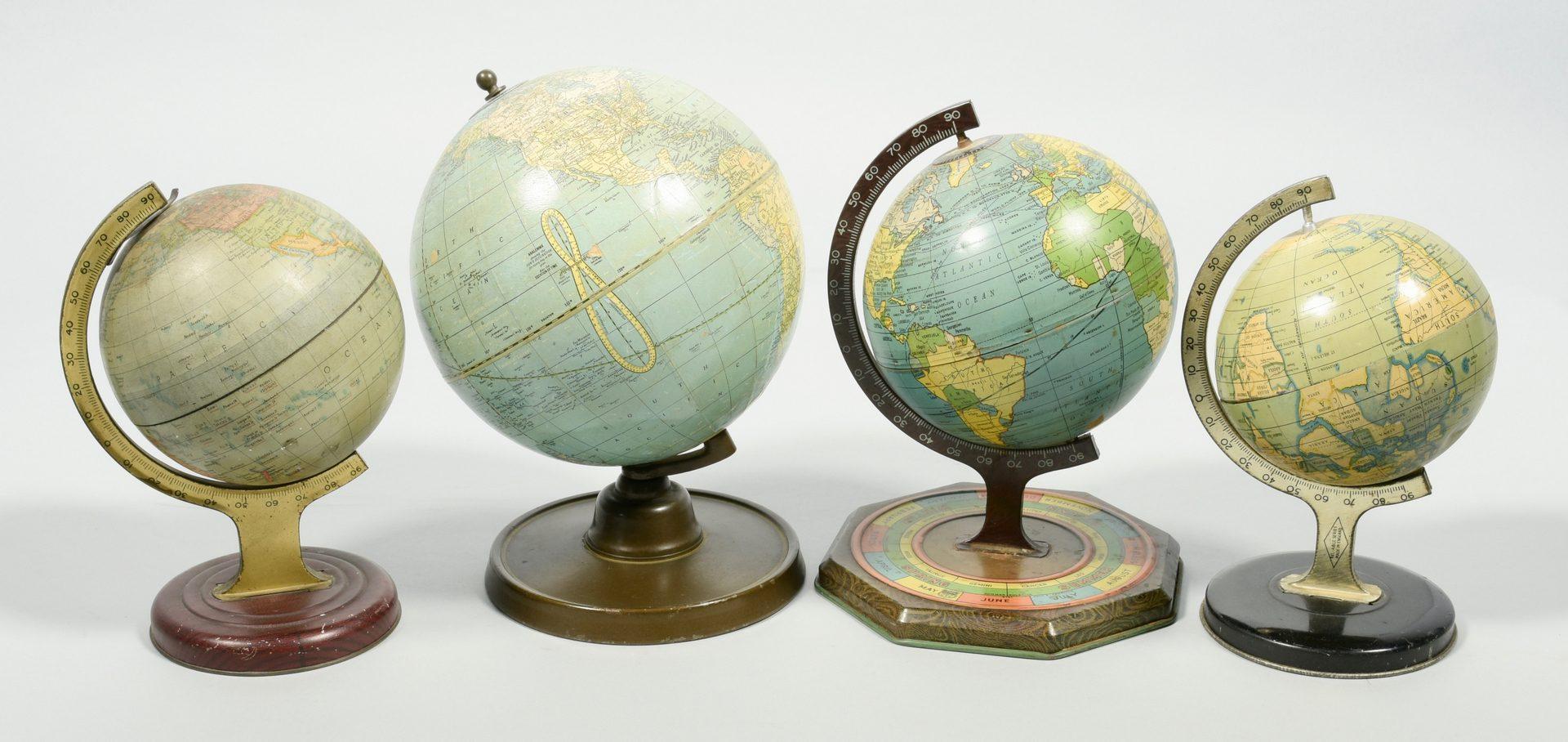 Lot 894: 4 Vintage Globes