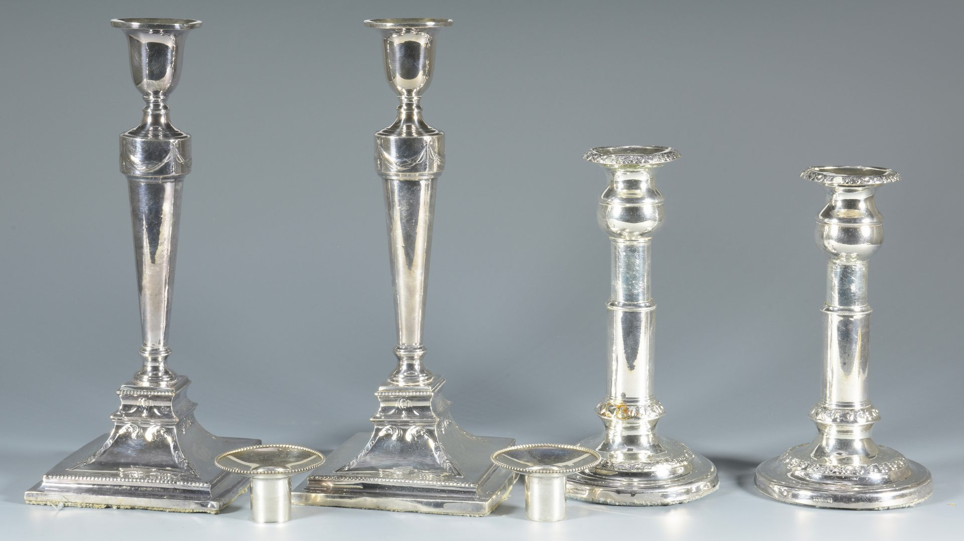 Lot 898: Large lot early English Plated Hollowware