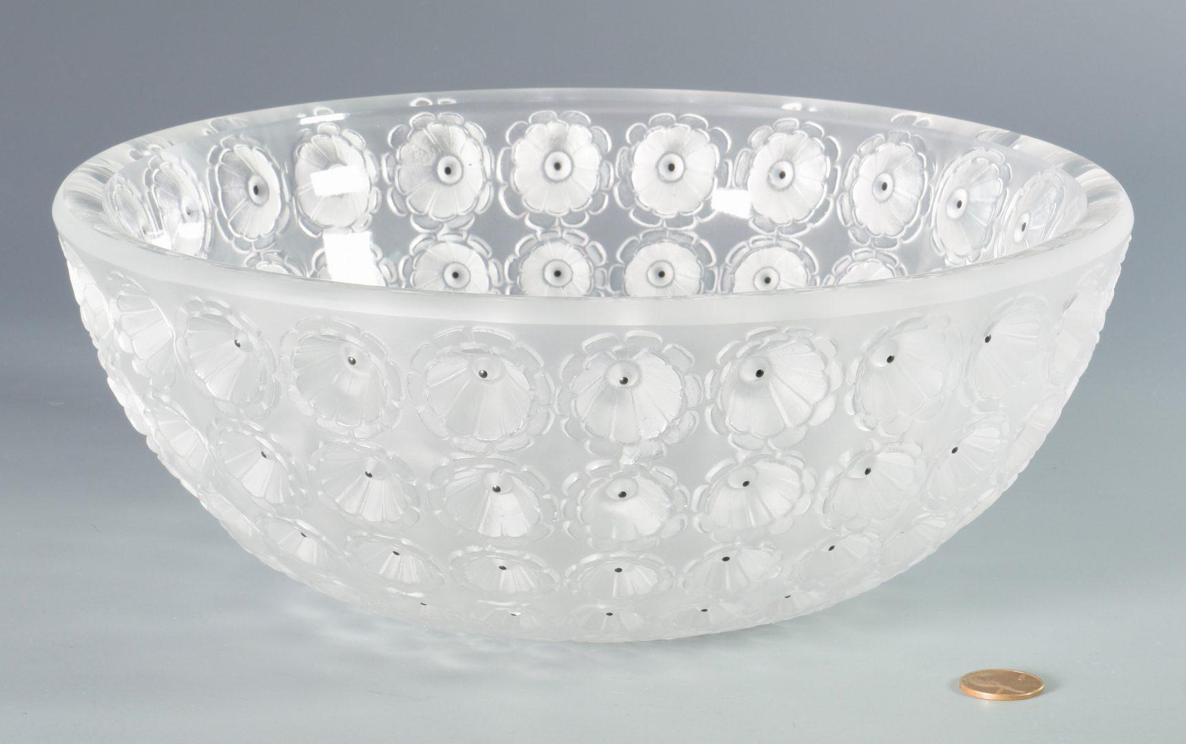 Lot 900: Rene Lalique Nemours Coupe Glass Bowl