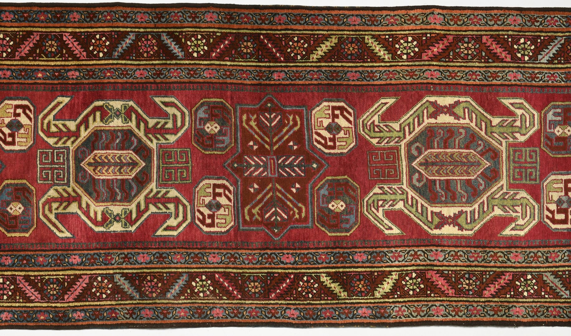 Lot 905: Semi-antique Lenkoran Kazak Runner