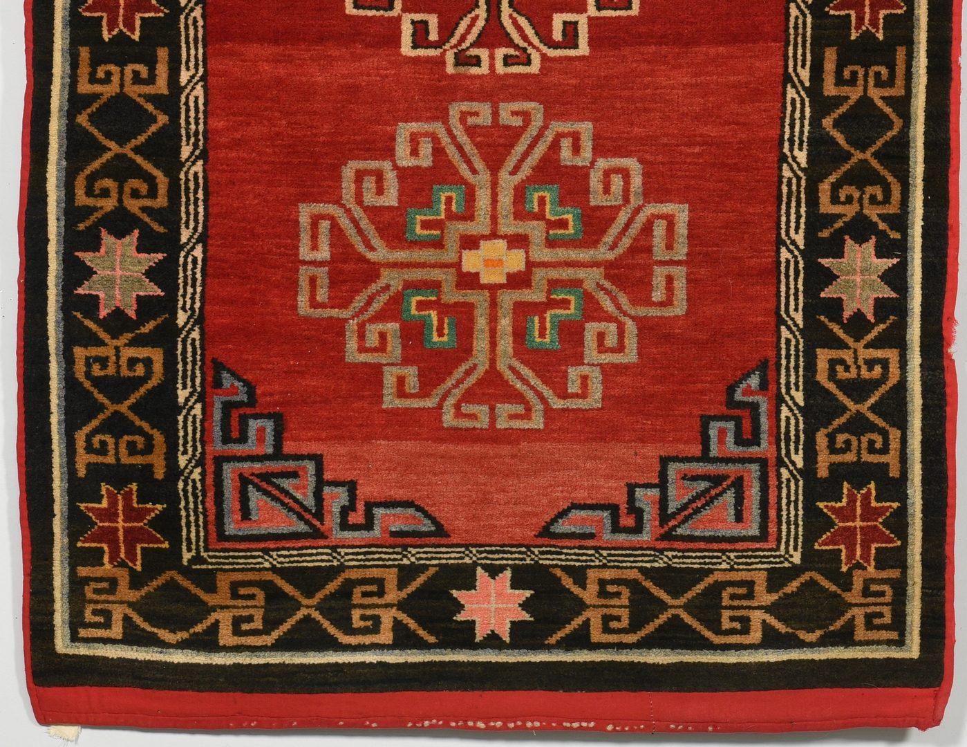 Lot 906: Backed Tibetan and Turkish Bergamo