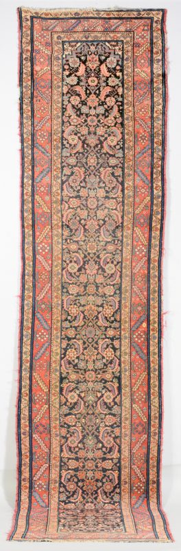 Lot 907: Antique Persian Hamadan Runner, 13' x 3'1""