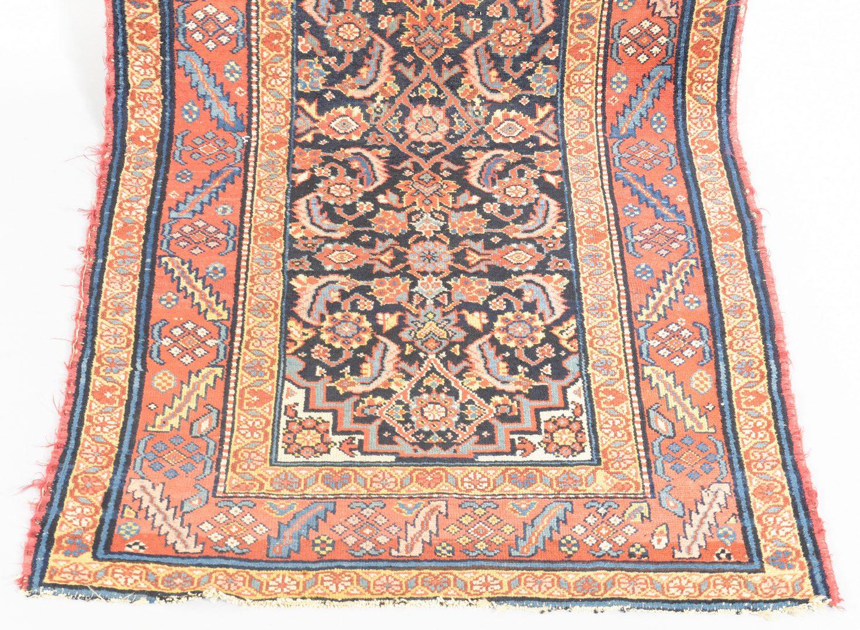 "Lot 907: Antique Persian Hamadan Runner, 13' x 3'1"""