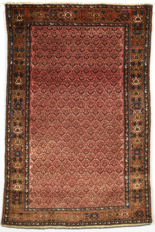 Lot 909: Antique Persian Hamadan, Turtle Border