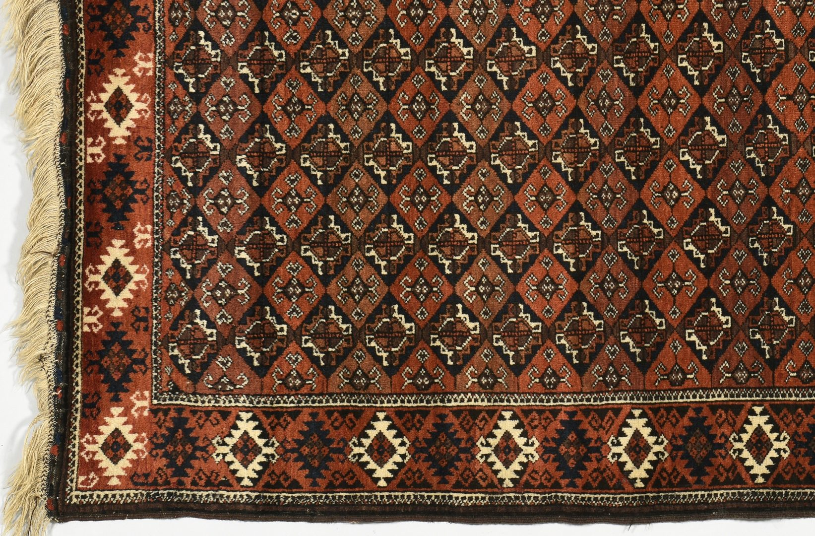 "Lot 913: Antique Afghan Balouch Rug, 8'8"" x 3'8"""