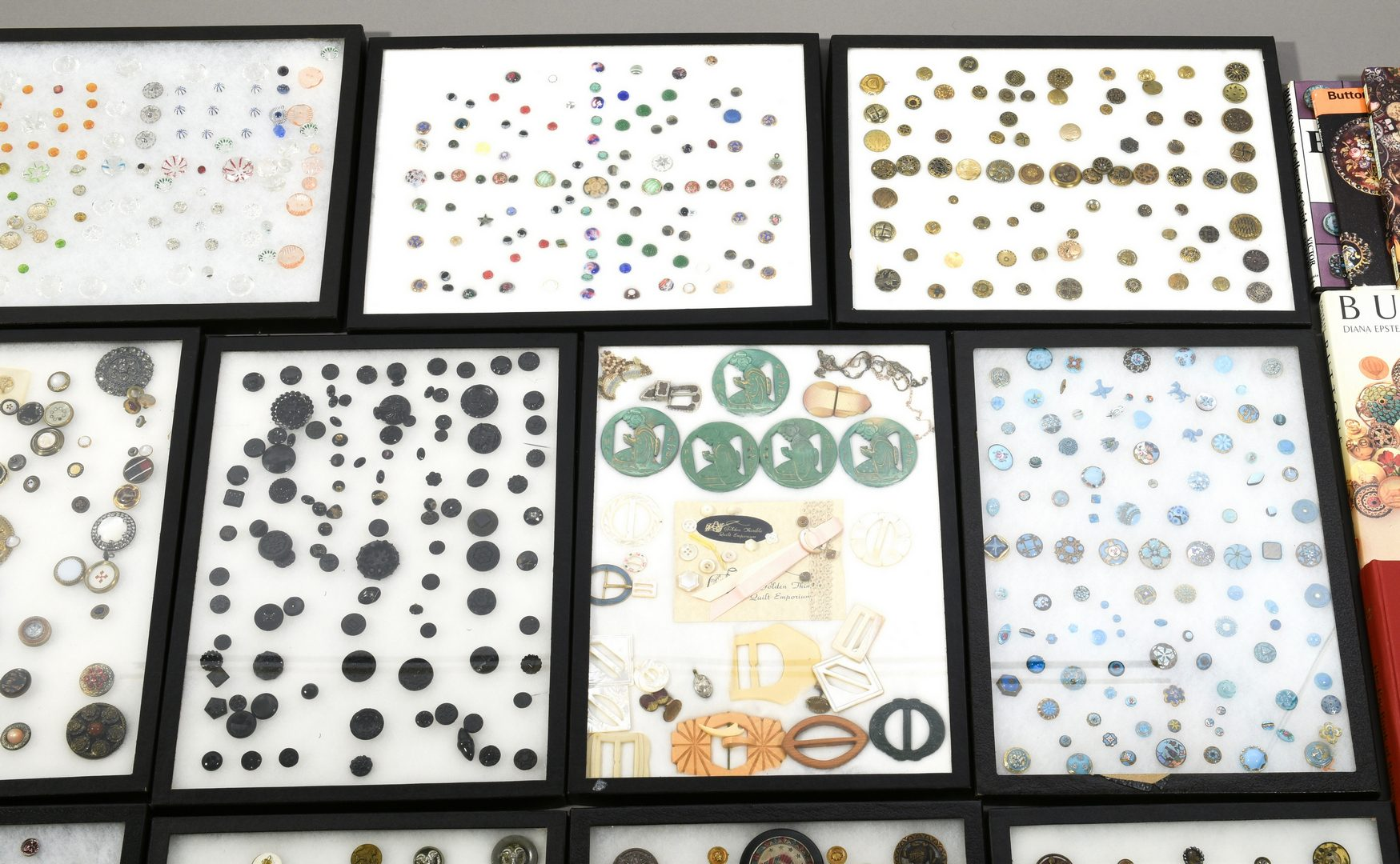 Lot 917: Extensive Button Collection w/ Books