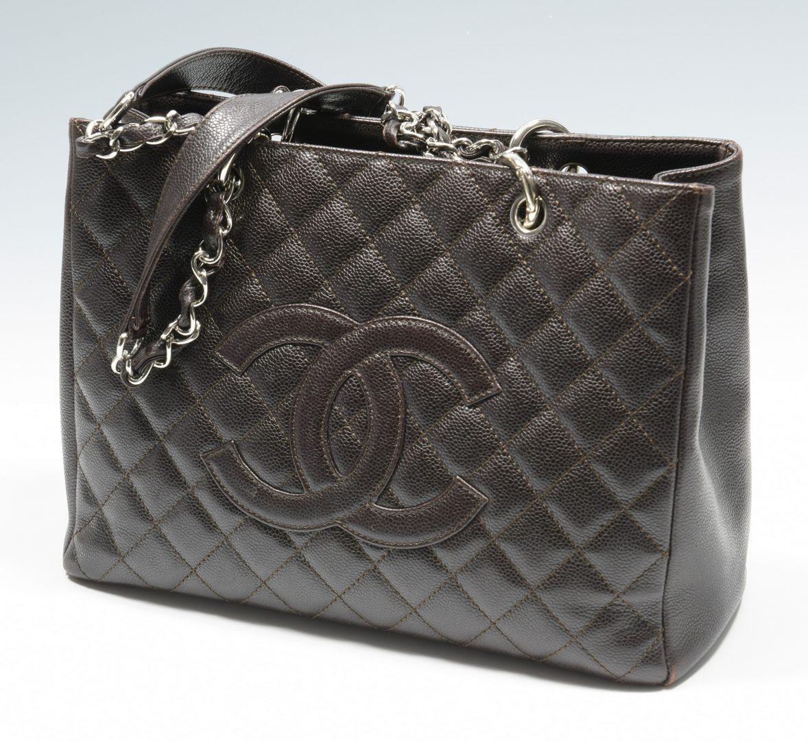Lot 921: Chanel Dark Brown Grand Shopping Tote