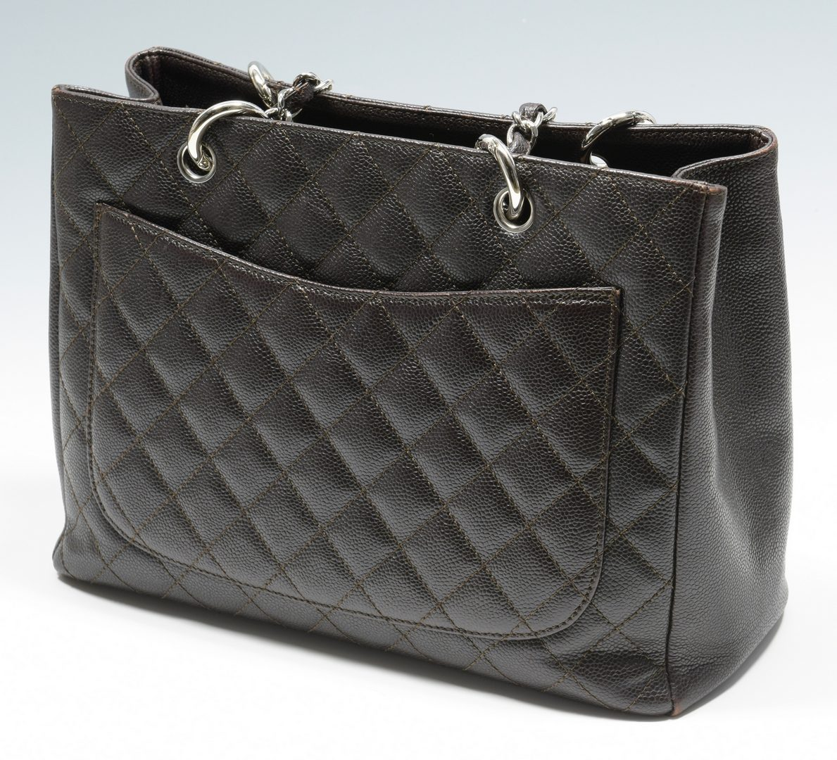 Lot 921: Chanel Dark Brown Grand Shopping Tote
