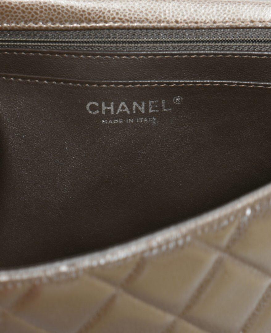 Lot 923: Chanel Jumbo Classic Flap Bag, Dark Brown Leather