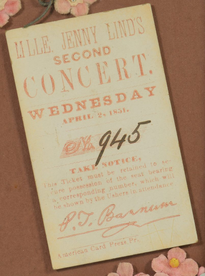 Lot 932: TN Distillery Advertising & Jenny Lind Ticket