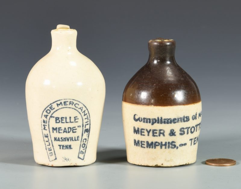 Lot 933: 2 TN Miniature Whiskey Advertising Jugs