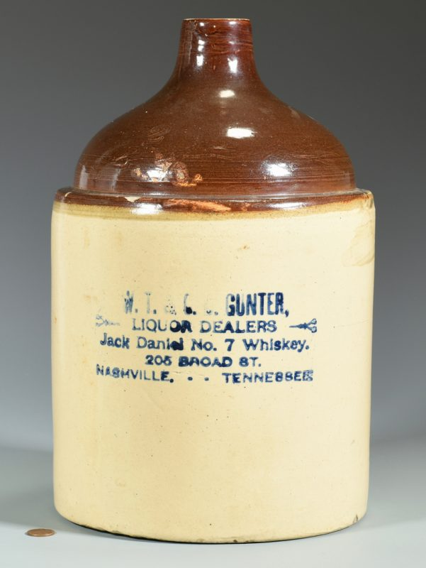 Lot 935: Gunter Nashville Jack Daniels Jug