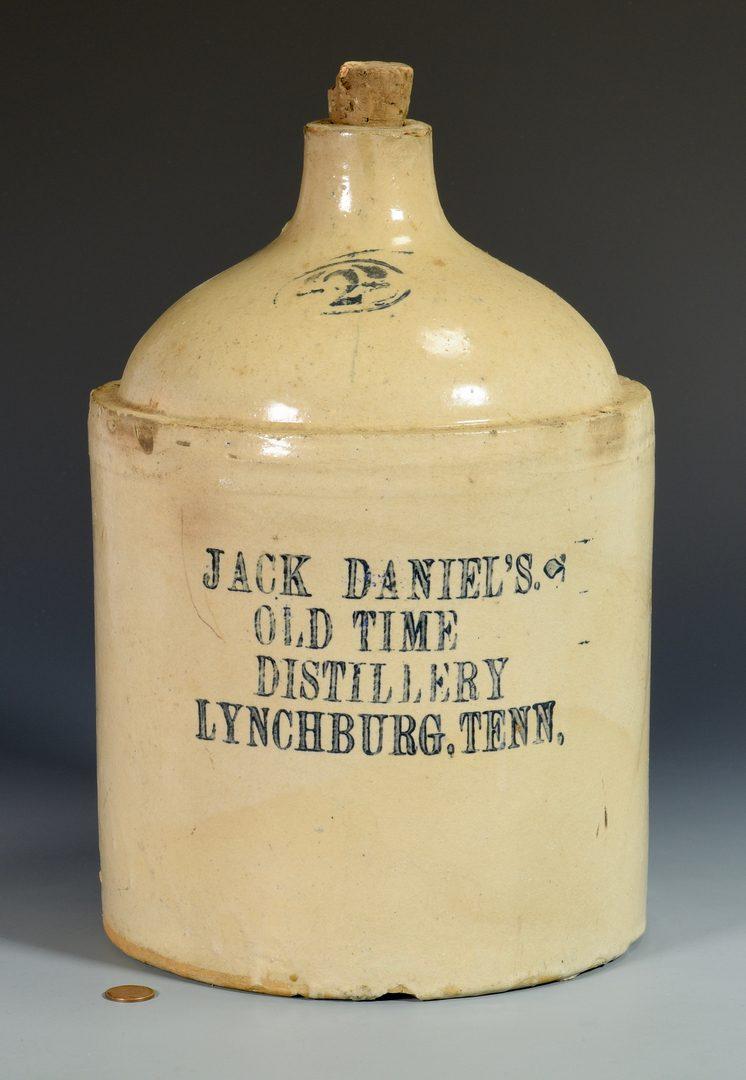 Lot 936: 2 Jack Daniels Advertising Whiskey Jugs