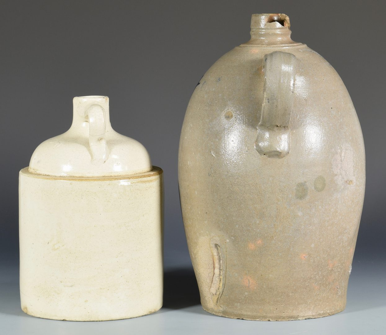 Lot 937: 2 Advertising Whiskey Jugs, TN & PA
