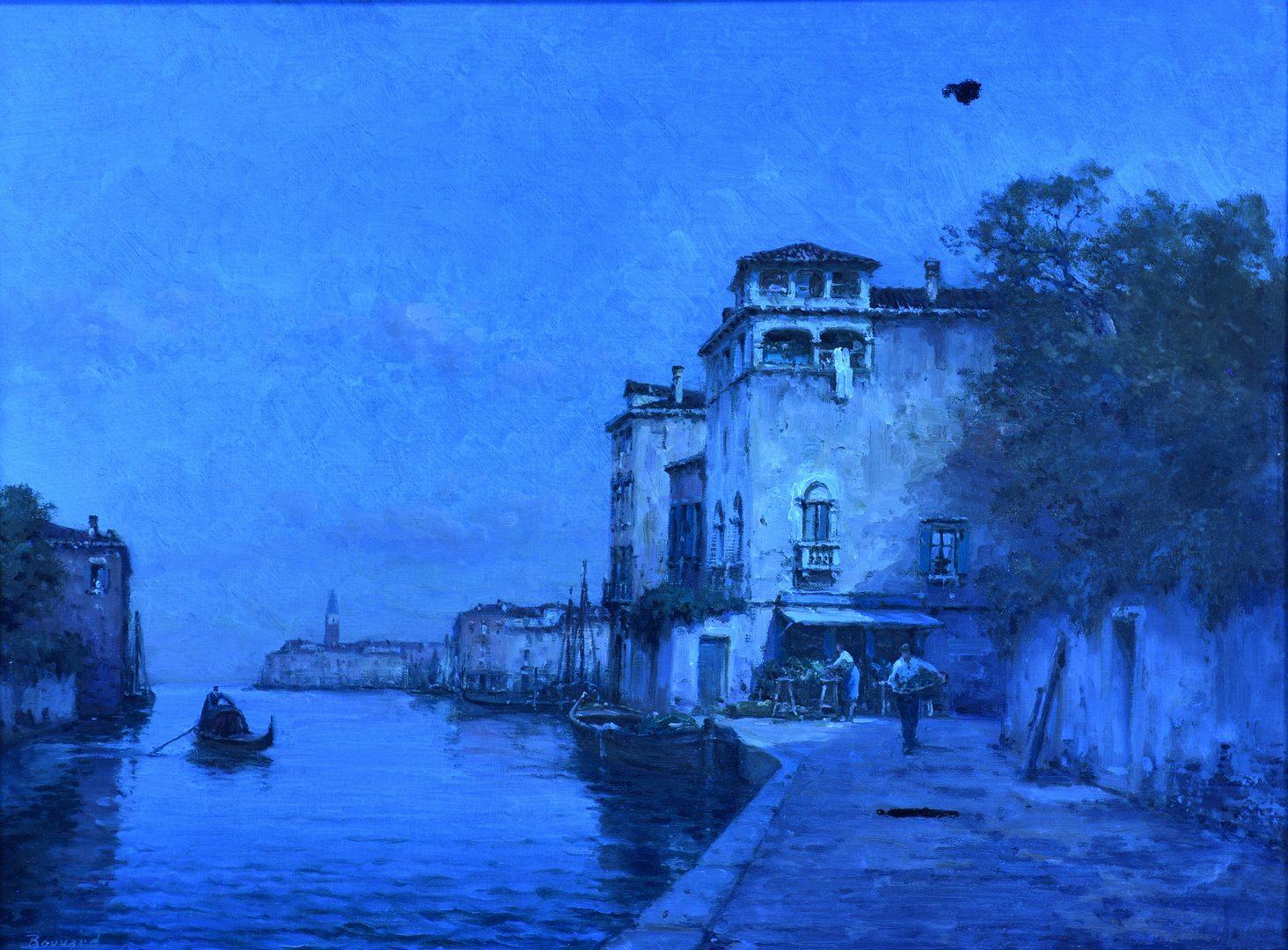 Lot 93: Antoine Bouvard O/C, Venetian Canal