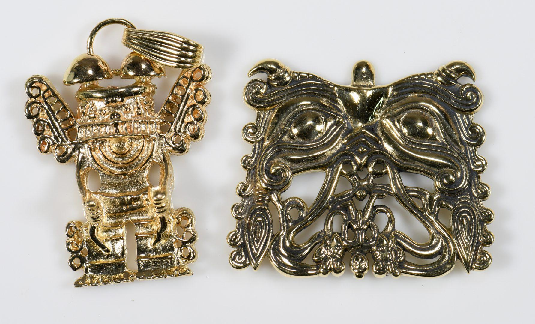 Lot 940: 14K Pendants of Ancient Civilizations, 7 Items