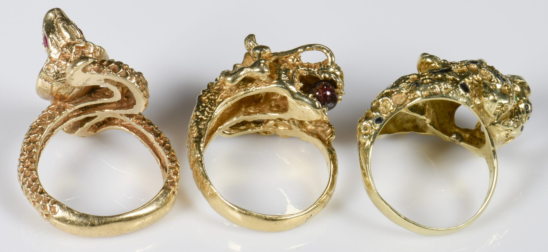 Lot 941: 14K Animal and Reptile Rings