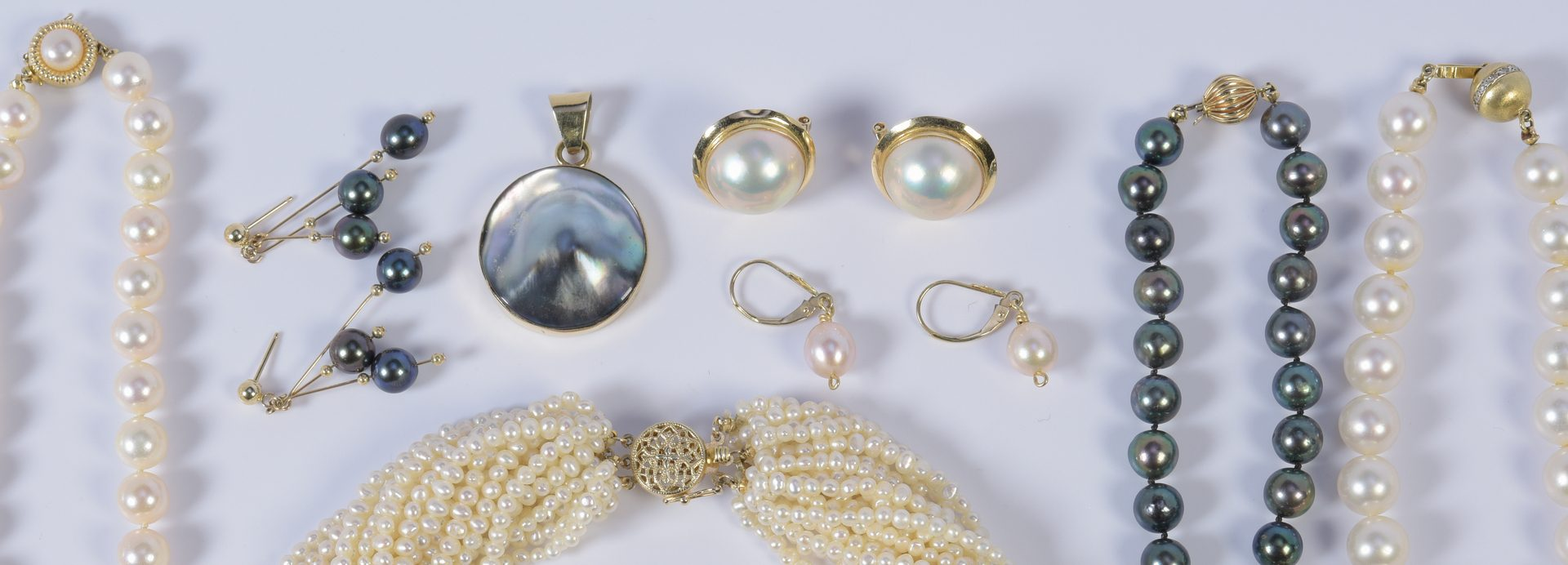 Lot 943: Group of Pearl Jewelry, 8 items