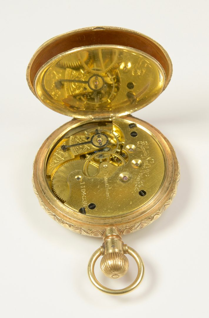 Lot 946: 14K Elgin Hunting Case Watch, dated 1883